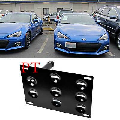 Bumper Tow Hook License Plate Bracket 8 Mounting Holes For 2013-2016 Subaru BRZ