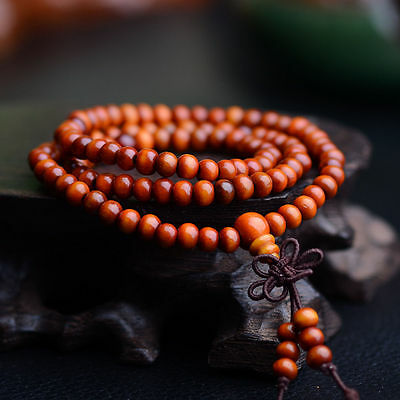 Sandalo Buddista Meditazione 6mm 108Preghier Perlina Mala Bracciale/Collana *SP 6