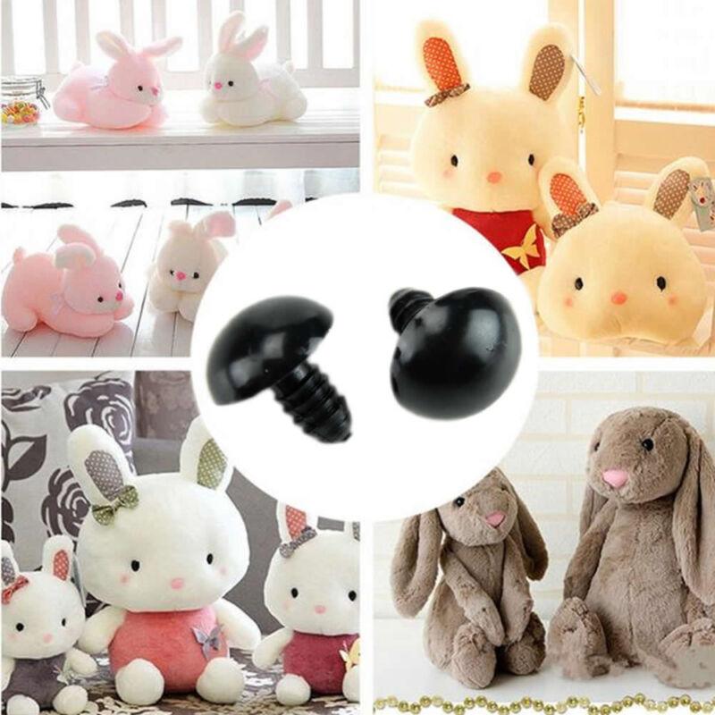 Cute 100 Pcs Popular 6-14mm Black Plastic Safety Eyes for Bear Dolls Toy Animal 3