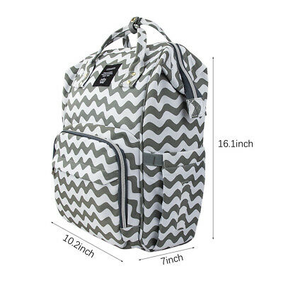 LEQUEEN Mummy Maternity Nappy Diaper Bag Large Capacity Baby Changing Backpack 6