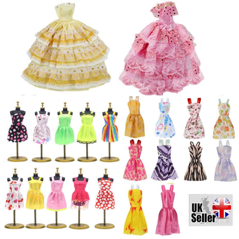 22pcs/set Fashion Casual Party Dress Wedding Gown For Barbie Dolls Random Color 9