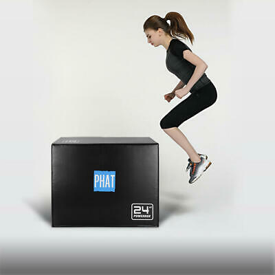 "PHAT® Fitness 3in1 Foam Jumping Box Plyometric Box for Jump Training 20"" 24"" 30"" 9"