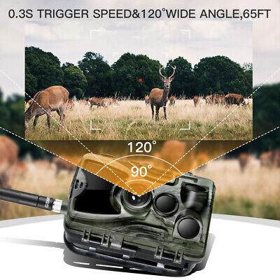 1080P Caméra de Chasse Caméra de Surveillance IR HD Nuit Vision GSM/MMS/SMTP/SMS 4