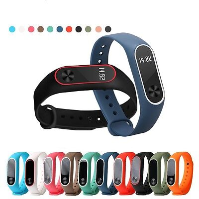 Silicone Wrist Strap Fitness Band with Clasp For Xiaomi Mi Band Miband 2 Tracker 4