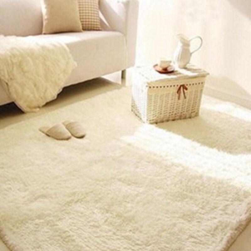 Fluffy Rugs Anti-Skid Shaggy Areas Rug Dining Room Carpet Floor Mat Home Bedroom 8