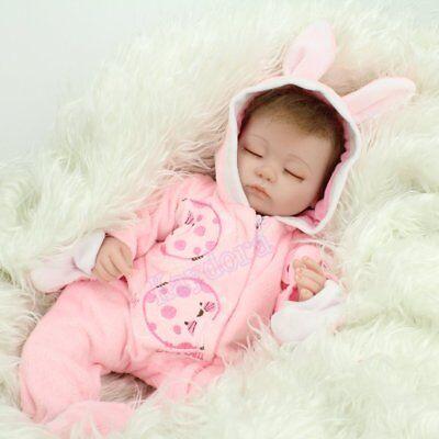 "16"" Sleeping Newborn Vinyl Silicone Reborn Baby Doll Handmade Xmas Gift Girl Toy 8"