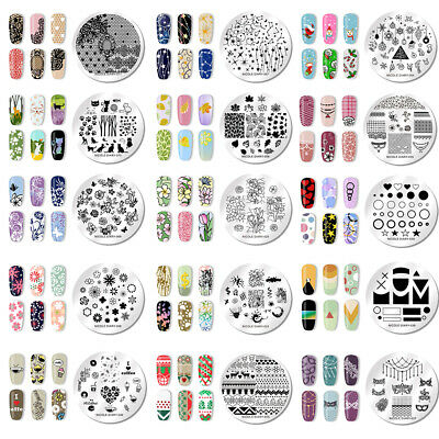 121 Patterns NICOLE DIARY Nail Stamping Plates Stainless Steel Nail Art Tool 5