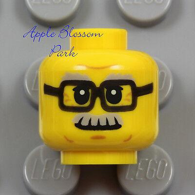 ☀️NEW Lego Minifig Hair Male Long BLACK BEARD HAIR Old Man Grandpa Male Business