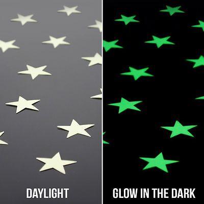 100Pcs Wall Stickers Home Decor Glow In The Dark Star sticker Decal Kids room 4