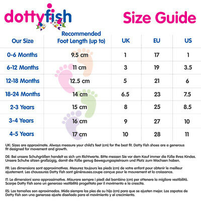 Dotty Fish Girls Soft Leather Baby and Toddler Shoes with non slip Suede Soles 2