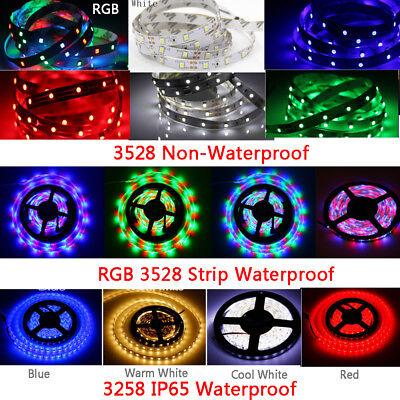 5M 300 LED Strip Light SMD 3528 5050 5630 RGB/White Flexible+Remote+Power Supply 3