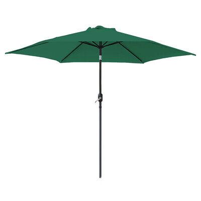 2.5M Round Garden Parasol Umbrella Patio Sun Shade Aluminium Crank Tilt 3