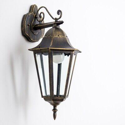 Klassische Wand Lampe Aussen Leuchte Terasse Garten Laterne Fassaden schwarz