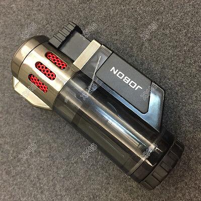 JOBON High-Capacity Triple Jet  Torch Gas Lighter for Pipe Cigar Cigarette Black 3
