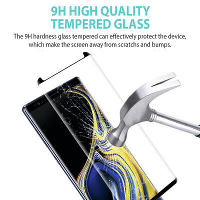 Samsung Galaxy S9 S8 Plus Note 9 8 Full Cover Screen Protector Tempered Glass 4