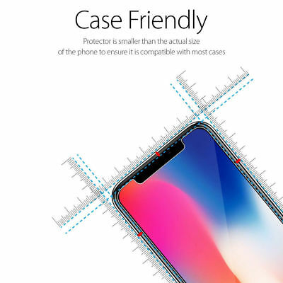 Fits For iPhone Xs Max XR 100% Genuine Clear Tempered Glass Screen Protector 7