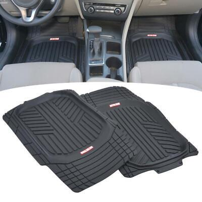 Waterproof TriFlex Rubber Floor Mats for Car Van SUVs Truck w/ Rear Liner Black 3