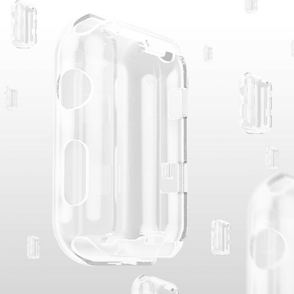 For Apple Watch Series 5 4 iWatch 40/44mm Clear TPU Screen Protector Case 3
