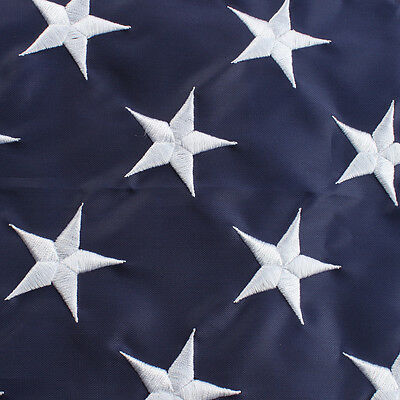 3x5 ft American Flag USA US U.S. Embroidered Stars Sewn Stripes Brass Grommets 8
