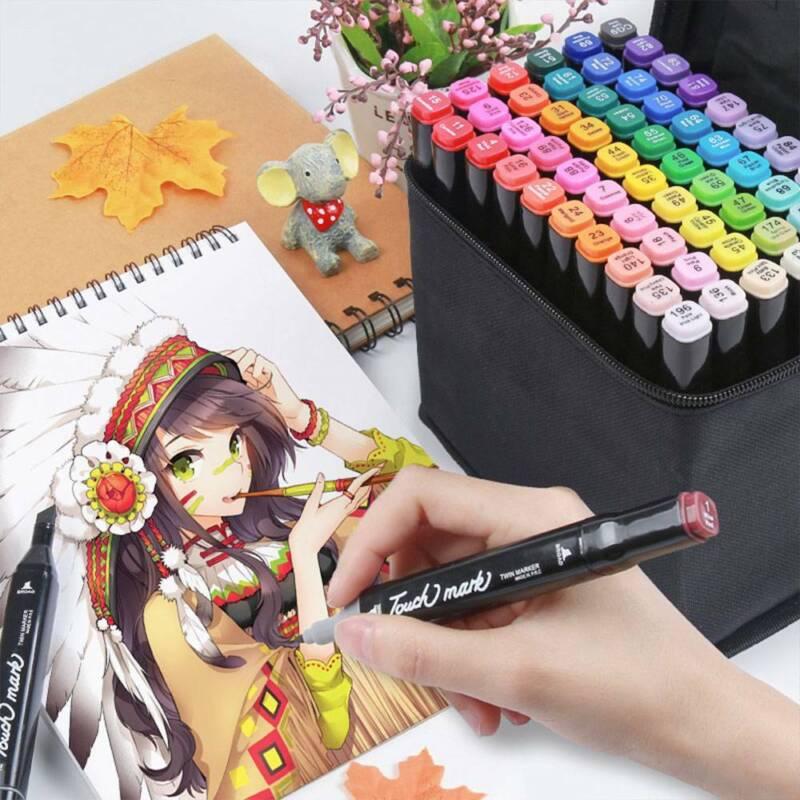 40 Couleur Alcool Marqueur Permanent Feutre Crayon Peinture Graphique Stylo Art 2