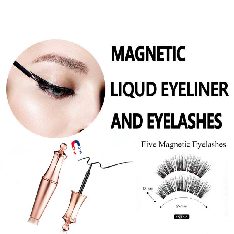 Magnetic Eyeliner With Applicator No Glue Need Natural Magnetic False Eyelashes~ 7