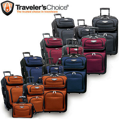 1687f5db6fe1 ... Travel Select Navy Amsterdam 4-Piece Lightweight Rolling Luggage  Suitcase Set 12
