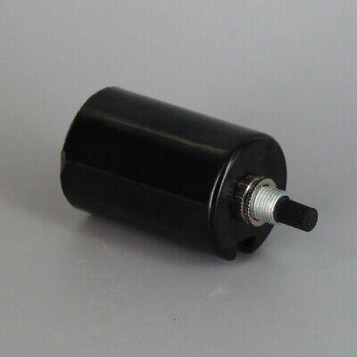 Black Plastic Husk 2 Piece Bottom Turn Knob Lamp Socket Medium Base 30147J 2