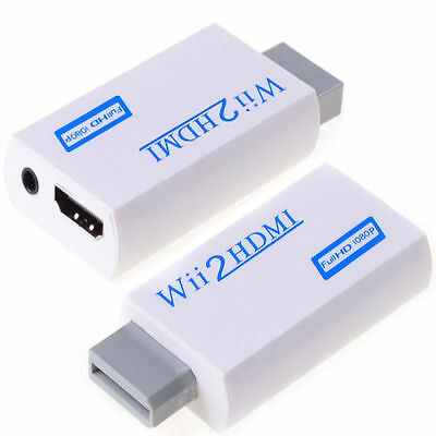 Wii HDMI Adapter 1080p Wii to HDMI Converter 3.5mm Adapter Audio HD Video Output 2