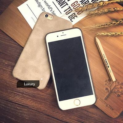 Genuine Original PU Leather Thin Slim Case Cover Apple iPhone 10 X 8 7 Plus 6s 5 10