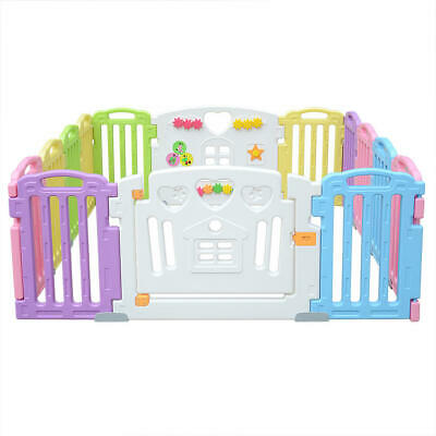 Baby Playpen Kids 14 Panel Activity Centre Safety Play Yard Home Indoor Outdoor 7