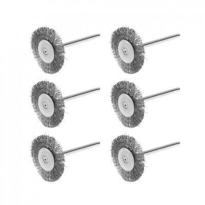 36pcs Wire Steel Brass Brushes Polishing Brush Wheels Set for Dremel Rotary Tool 8