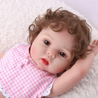 "Reborn Baby Girl Dolls 16"" Full Body Silicone Vinyl Handmade Xmas Gifts Doll Toy 3"