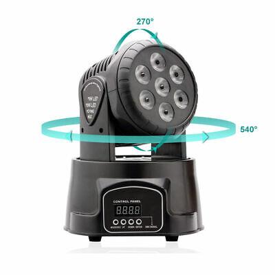 2x 105W RGBW Wash 7LED 9/14CH DMX Mini Moving Head Stage Light Lighting DJ Disco 3