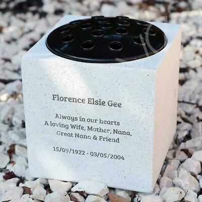 Personalised Customised Memorial Graveside Flower Rose Bowl Vase Pot 6