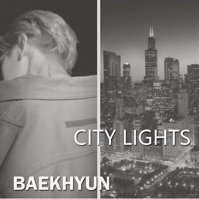 EXO BAEKHYUN CITY LIGHTS 1st Mini Album CD+POSTER+PBook+Lyric+Card+F.Poster+GIFT 4
