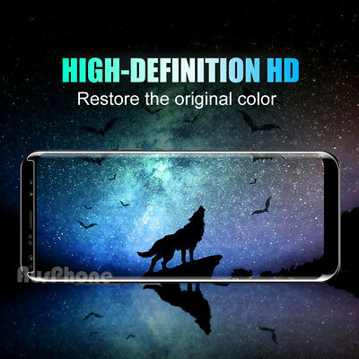 6D FULL COVER Tempered Glass Samsung Galaxy S9 S8 Plus Note 9 8 Screen Protector 2