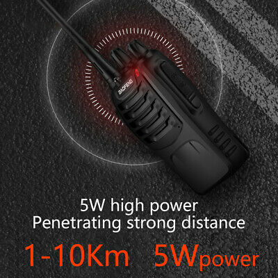 2x Walkie Talkie BF-888S UHF 400-470MHz 5W 16CH Portable Two-Way Radio AU Stock 7