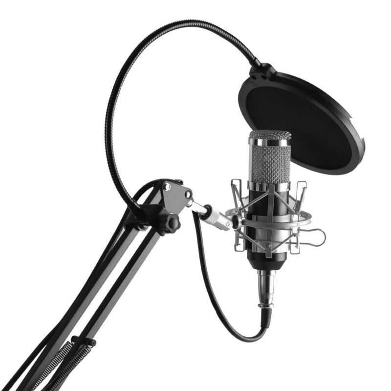 NW-800 Studio Condenser Microphone Mic Sound Recording Kit with Shock Mount UK 2