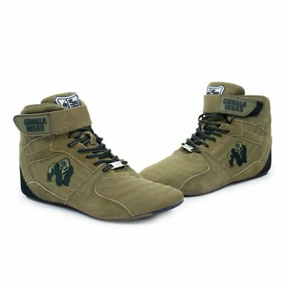 152e0fa7f08 ... Gorilla Wear Perry High Tops pro Army Green Bodybuilding and Fitness  Shoes 2