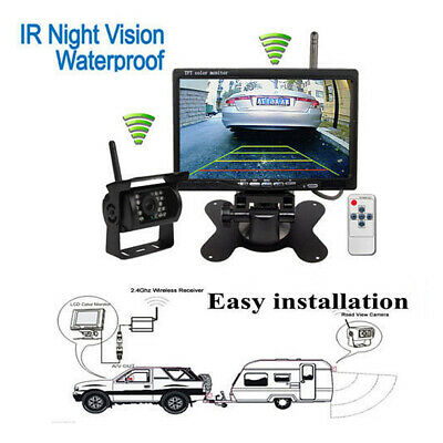 """7"""" Monitor Wireless IR Rear View Back up Camera Night Vision System for RV Truck 3"""