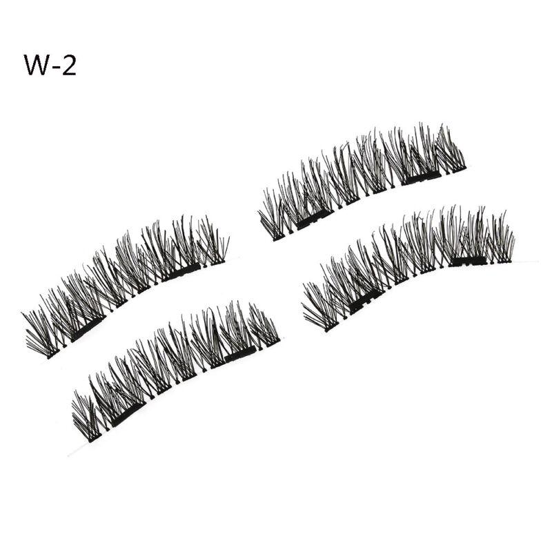 4X double cils magnétique à la main réutilisable faux cils sans colle nécessaire