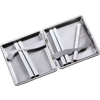 Stainless Steel PU Leather Cigar Cigarette Tobacco Case Pocket Pouch Holder Box 2