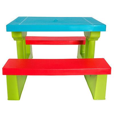 Conjunto de mesa y bancos para ni os asientos sillas sombrilla juego infantil eur 49 99 - Juego de mesa y sillas para ninos ...