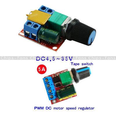 DC 3V-35V 5V-35V 5A Mini Motor PWM Speed Control Switch LED Dimmer Controller 4