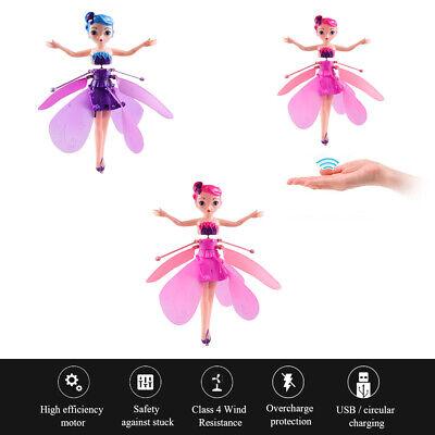 Volant fée poupée avec LED lumières Infrarouge Contrôle Induction Enfants jouets 4