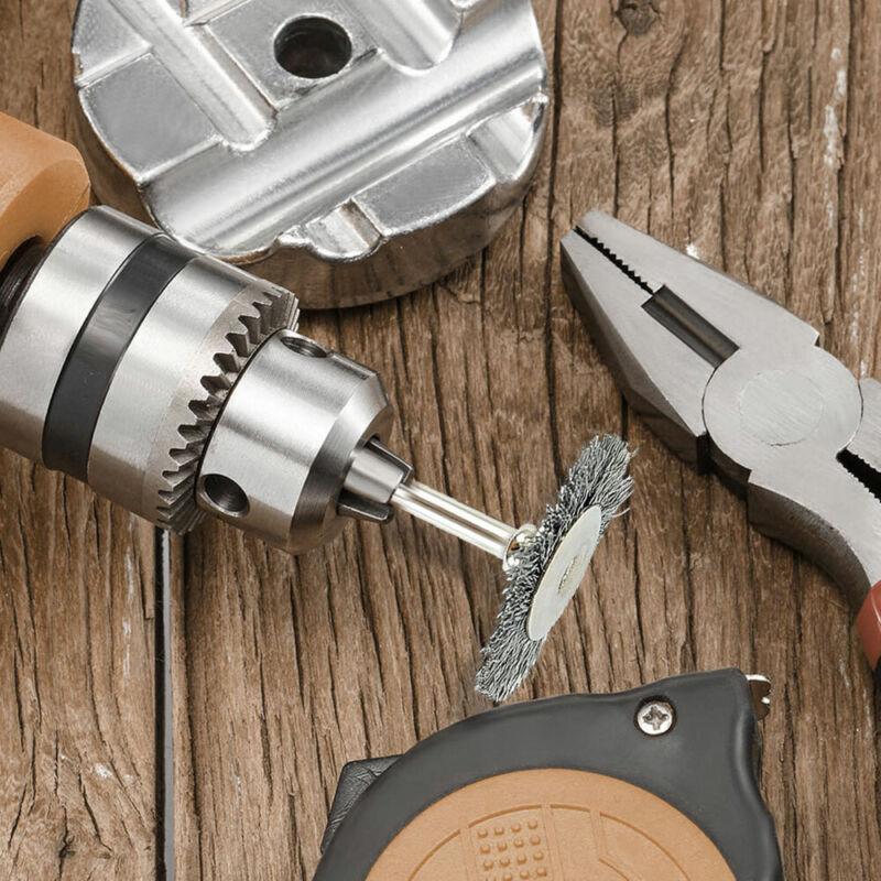 20Pcs 25mm Stainless Steel Wire Brush Polishing Wheel For Dremel Rotary Tool 5