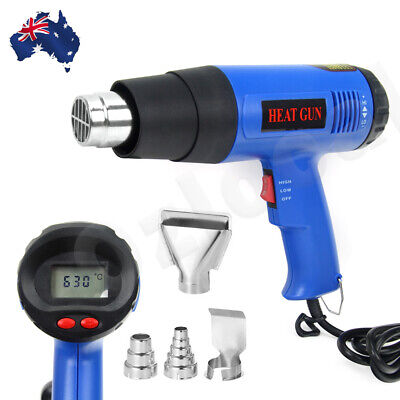 220V 1800W Electric Heat Gun 60-600 Degree Temperature Adjustable Hot Air OZ 10