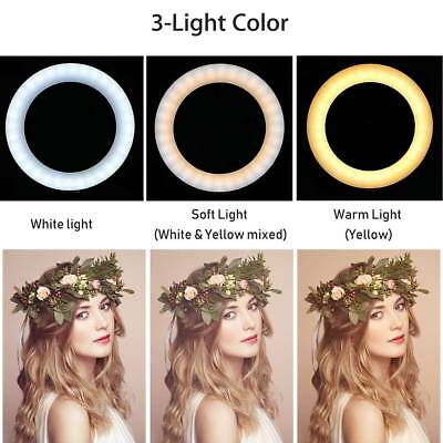 LED Studio Ring Light Photo Video Dimmable Lamp Light Tripod Selfie Camera Phone 3