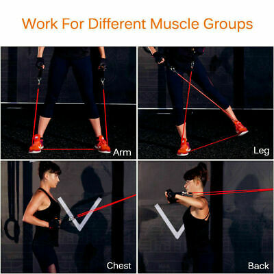 Resistance Bands Heavy Workout Exercise Yoga 11 Piece Set Crossfit Fitness Tubes 10