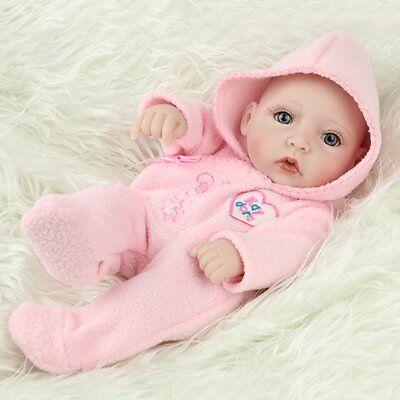 "10""Newborn Real Looking Baby Girl Soft Vinyl Realistic Life Like Reborn Dolls 2"